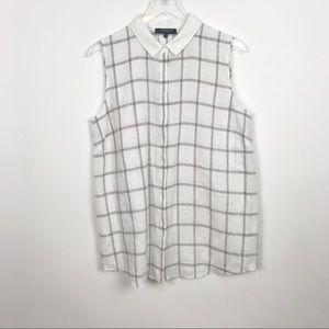 Lafayette 148 Linen Nadie Plaid Linen Shirt